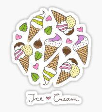 cartoon ice cream cones  Sticker