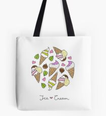 cartoon ice cream cones  Tote Bag