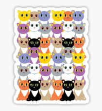 Only A Glaring Of Cats Sticker