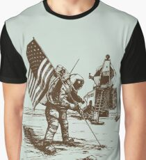 Apollo Moon Landing Vintage Space Cartoon Graphic T-Shirt