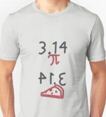Pi = Pie (dark on light) Unisex T-Shirt