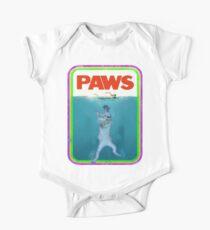 Paws Jaws Movie parody T Shirt Kids Clothes