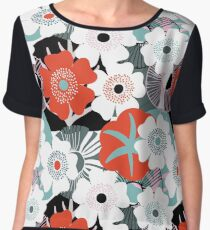 water flowers Chiffon Top