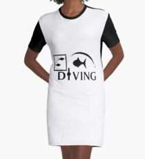 DIVING Graphic T-Shirt Dress