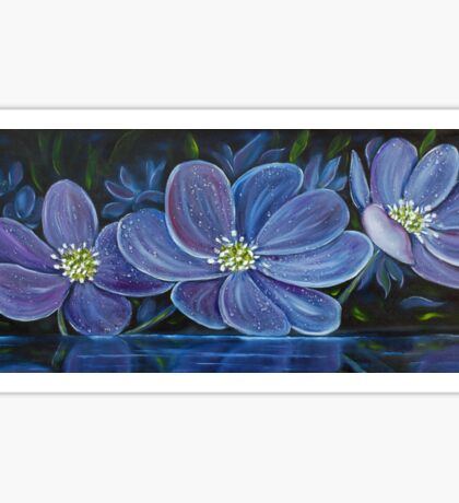 Flower Pool - Oil Painting Sticker