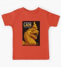 """LAOS ASIA"" Vintage Travel Advertising Print Kids Clothes"