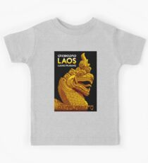 """LAOS ASIA"" Vintage Travel Advertising Print Kids Tee"