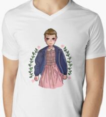 Eleven from stranger things Men's V-Neck T-Shirt