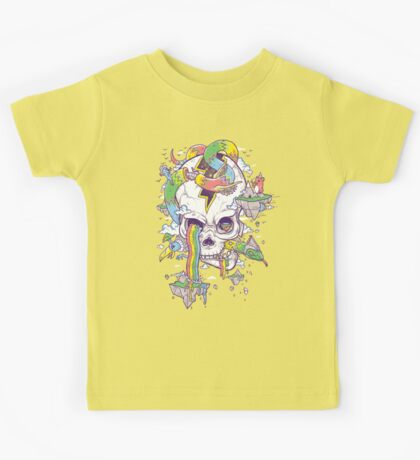 Flying Rainbow skull Island Kids Clothes