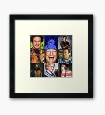 Robin Williams Collage Framed Print