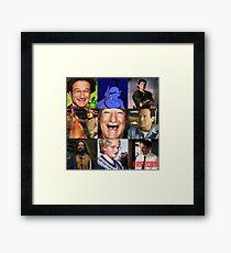 Robin Williams Collage Framed Print