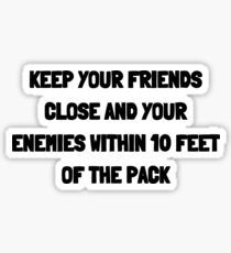 Keep Your Friends Close Sticker