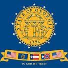 Flag of Georgia, 2001-2003 by abbeyz71