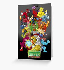 Super Sesame Street Fighter Greeting Card