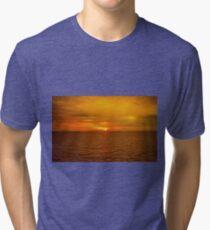 Sunset on the Caribbean Sea Tri-blend T-Shirt