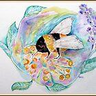 BEE IN FLOWERS by Gea Austen