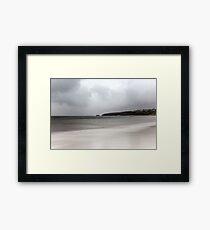 A calm atlantic storm Framed Print