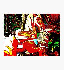Trio Of Carousel Horseys Photographic Print