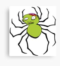 spider zombie Canvas Print