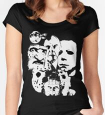 Horror Icons! Women's Fitted Scoop T-Shirt