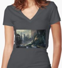 Crysis - New York Landscape Women's Fitted V-Neck T-Shirt