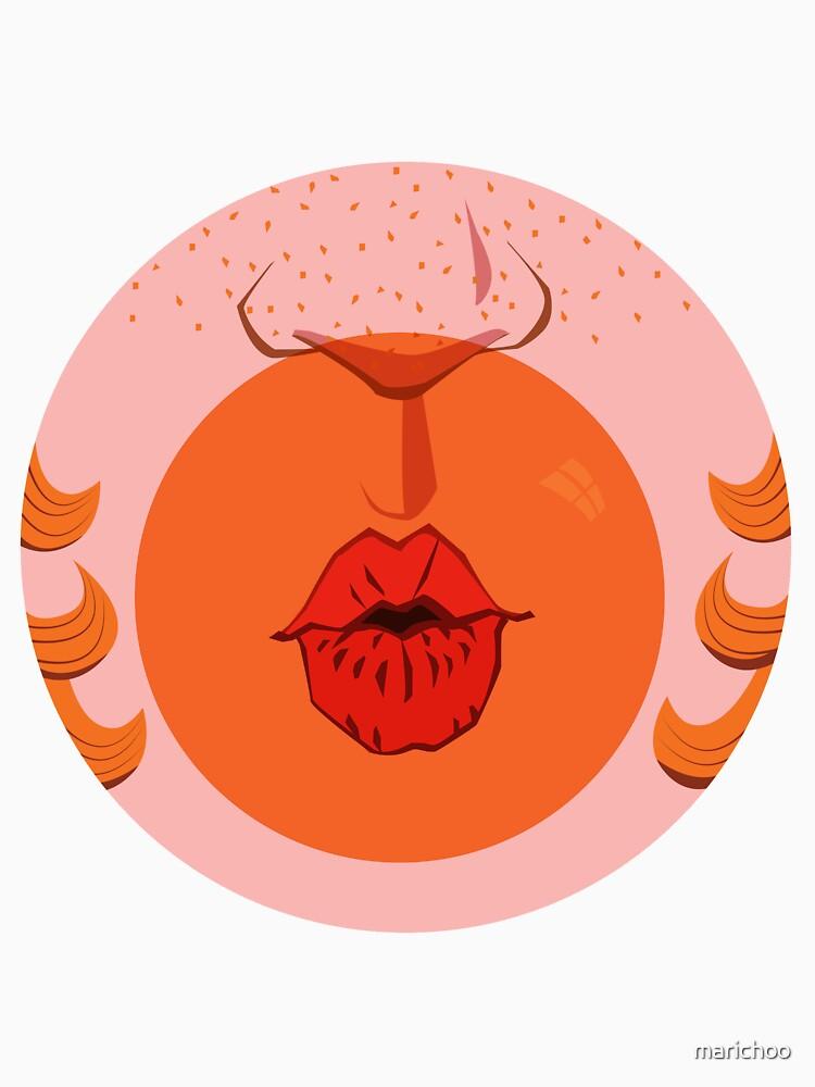 Orange Bubblegum Balloon  by marichoo