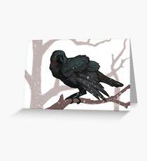 The Three Eyed Crow Greeting Card