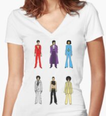 Retro Vintage Fashion 18 Women's Fitted V-Neck T-Shirt