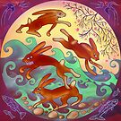 hares today by Vicky Stonebridge