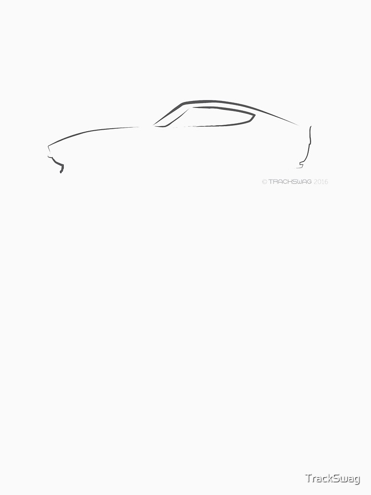 Profile Silhouette Datsun 240Z - black by TrackSwag
