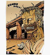 Zombie Daily - Smile/Orange Poster