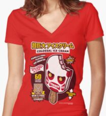 Colossal Ice Cream Women's Fitted V-Neck T-Shirt