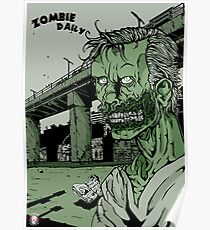Zombie Daily - Smile/Green Poster