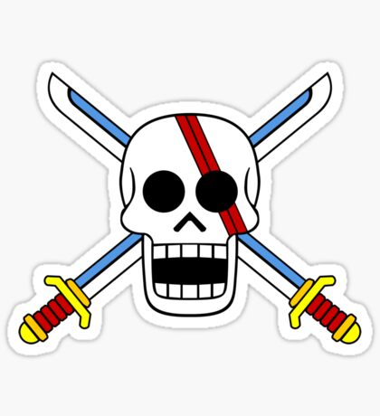 Red Hair Pirates Jolly Roger Sticker