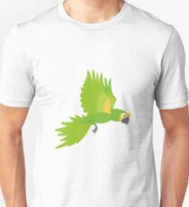 grüner, lustiger Papagei Unisex T-Shirt