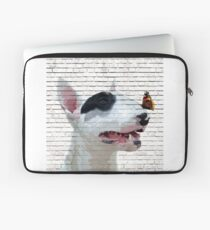 English Bull Terrier & Butterfly Laptop Sleeve