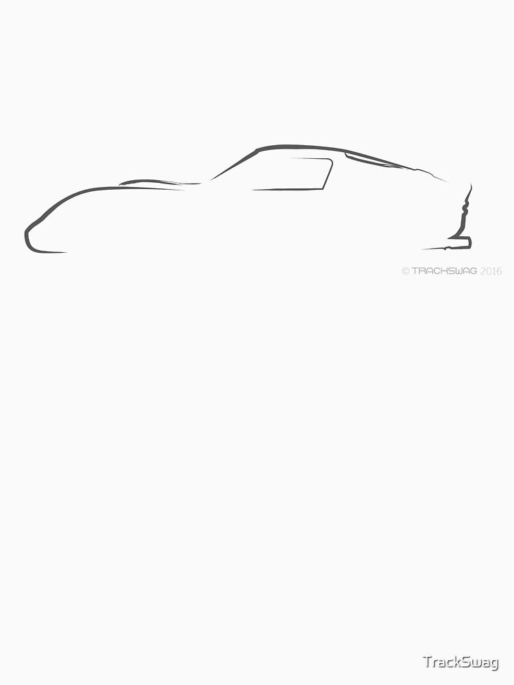 Profile Silhouette Ferrari GTO - black by TrackSwag