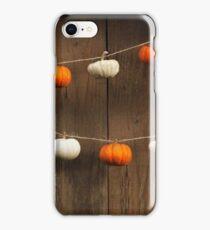 String of Pumpkins iPhone Case/Skin