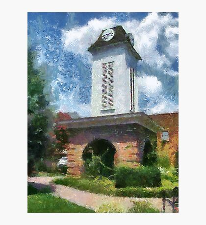Clock Tower on the Square in Downtown Franklin Photographic Print