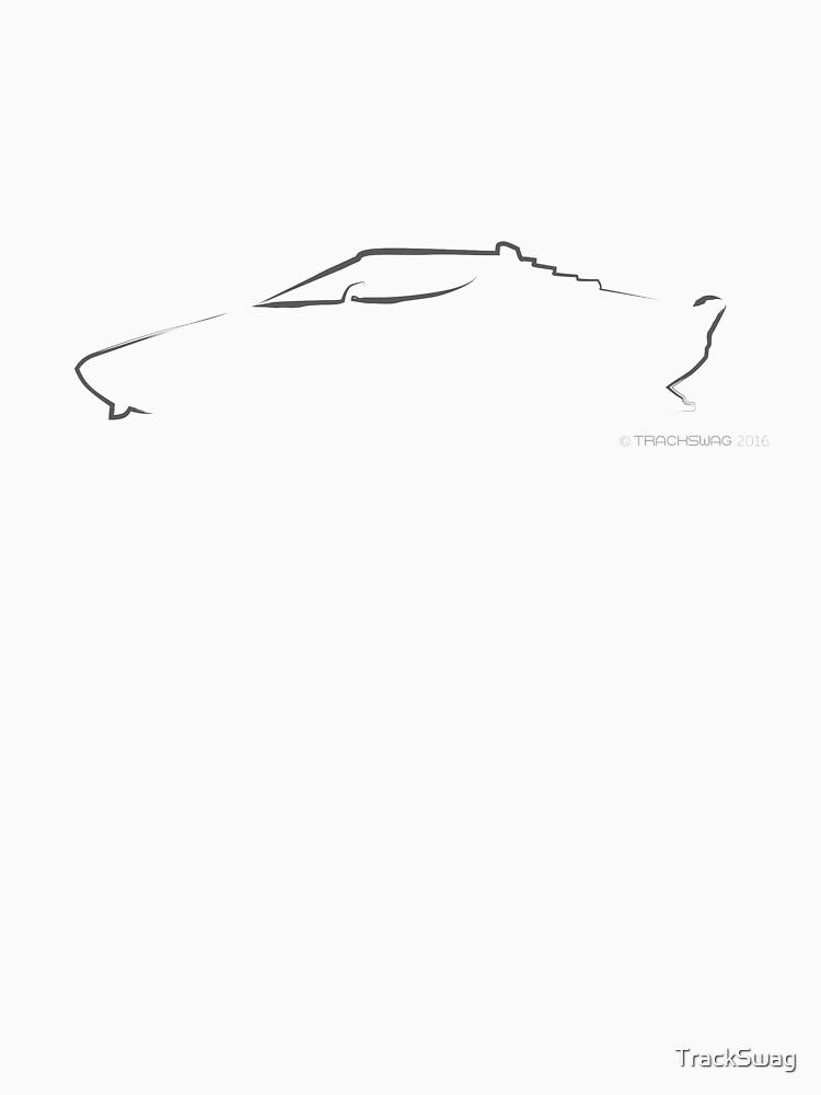 Profile Silhouette Lancia Stratos - black by TrackSwag
