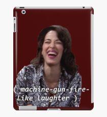 Janice: machine-gun-fire-like laughter  iPad Case/Skin