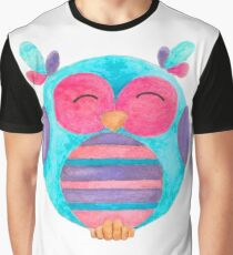 Maya the happy striped owl Graphic T-Shirt