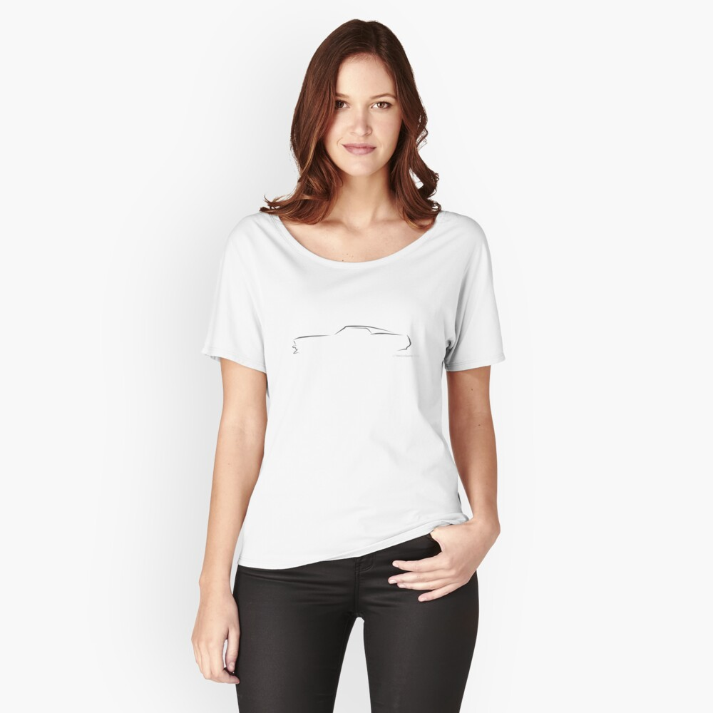 Profile Silhouette Mustang Mach 1 - black Relaxed Fit T-Shirt