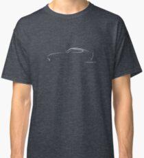 Profile Silhouette Datsun 240Z - white Classic T-Shirt