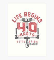 Kitesurfing 40 Knots Art Print