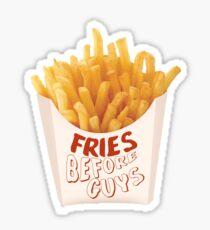 fries before guys sticker Sticker