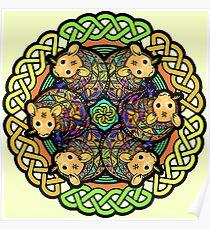 Magic Rat Mandala Poster