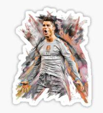 ronaldo art Sticker