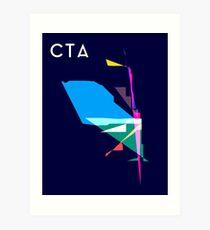 Abstract CTA Train Lines Art Print