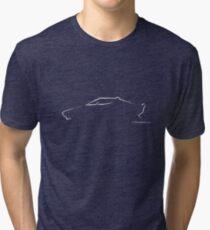 Profile Silhouette Lancia Stratos - white Tri-blend T-Shirt